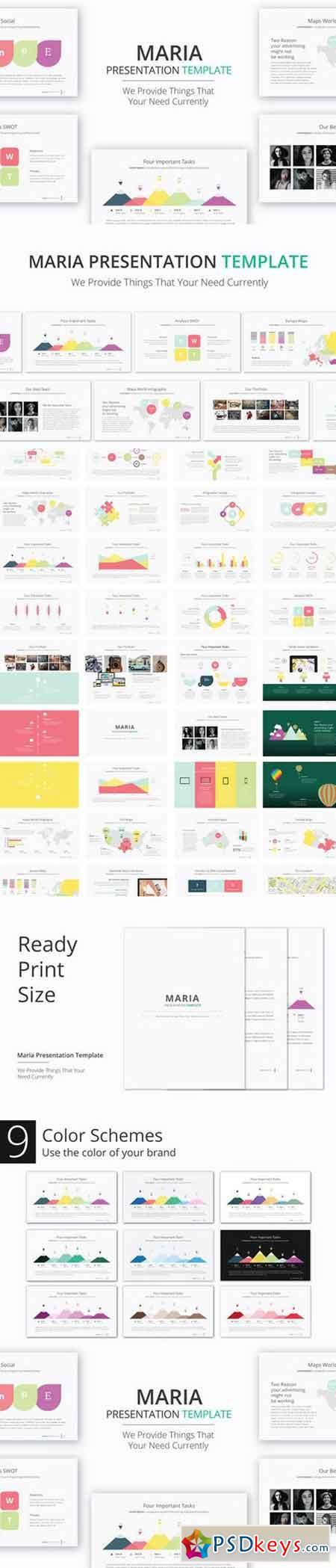 maria presentation template 894161 » free download photoshop, Presentation templates