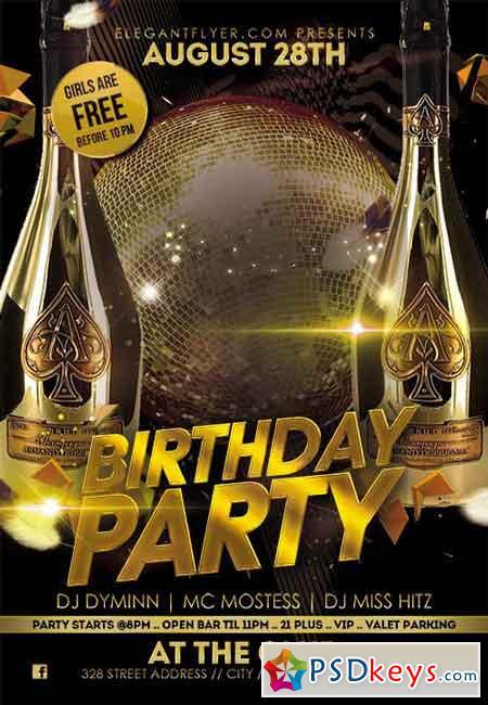 flyer birthday party