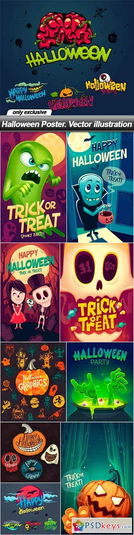 Halloween Poster. Vector illustration - 10 EPS