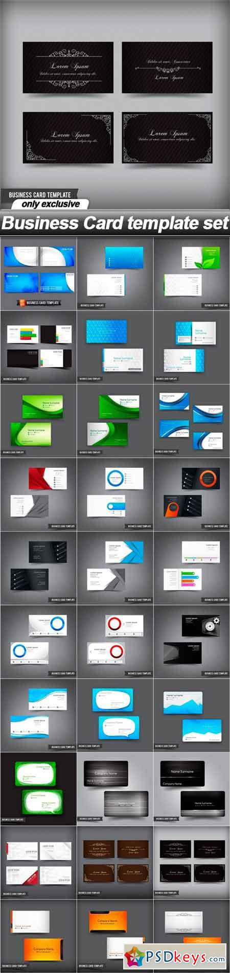 Business card template set 30 eps free download photoshop vector business card template set 30 eps cheaphphosting Gallery