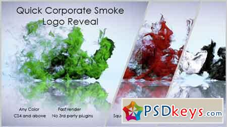 Quick Corporate Smoke Logo Reveal 14621153 - After Effects