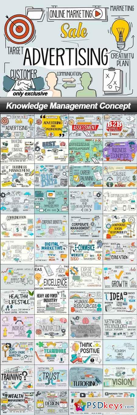 Knowledge Management Concept - 48 EPS