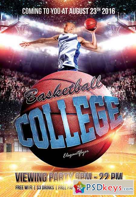 Basketball Flyer Psd Free Download Divingexperience