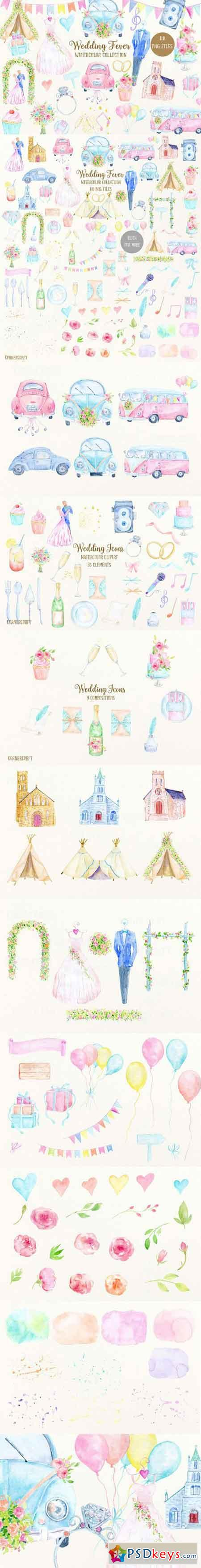 Watercolor Collection Wedding Fever 809001