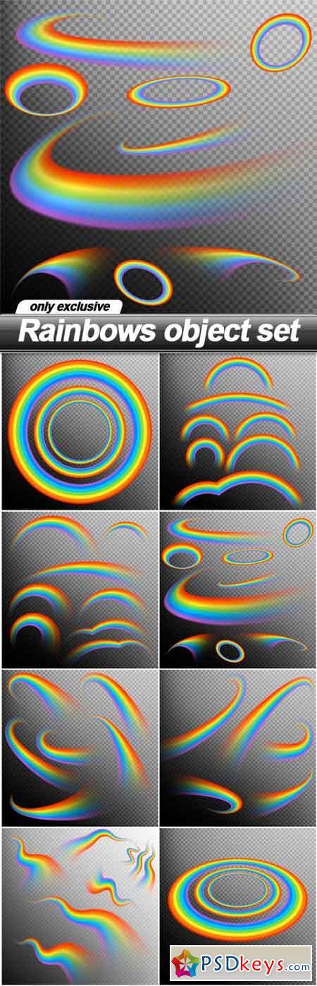 Rainbows object set - 8 EPS
