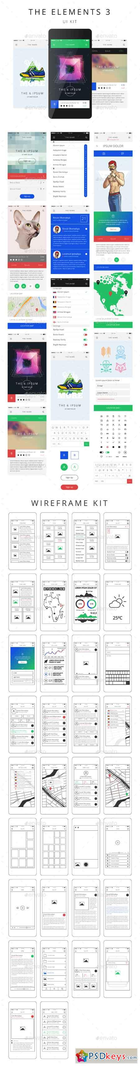 Vector Phone GUI Template Wireframe UI Kit 17397660