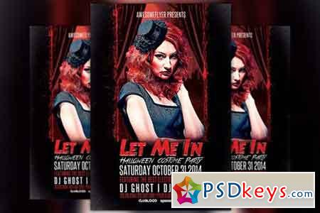 Let Me In Halloween Party Flyer 89881