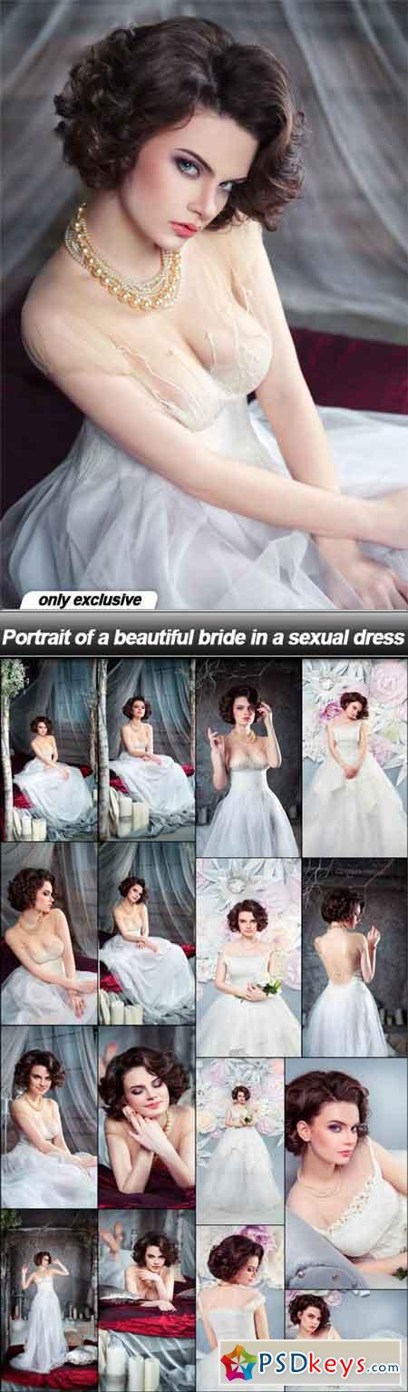 Portrait of a beautiful bride in a sexual dress - 17 UHQ JPEG