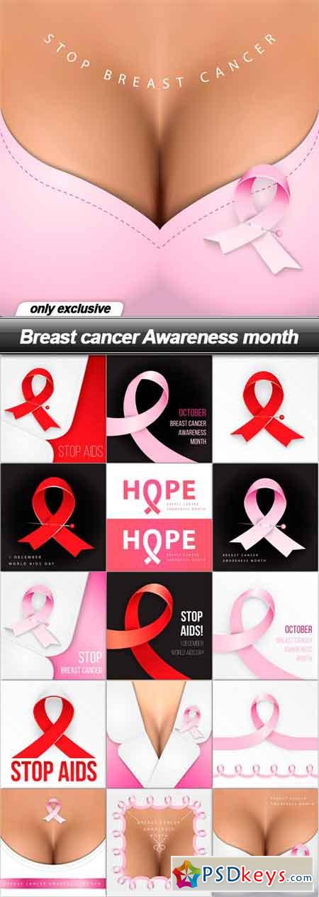 Breast cancer Awareness month - 16 EPS