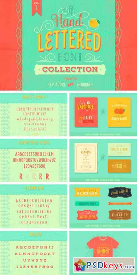 Hand Lettered Font Collection Vol.1 741103