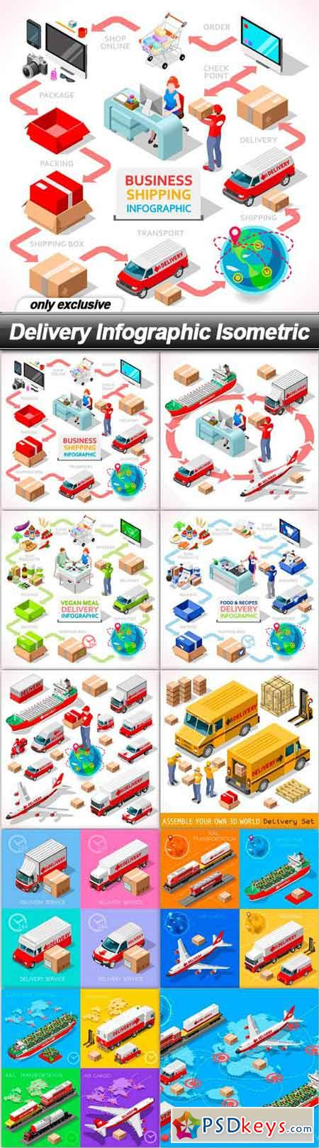 Delivery Infographic Isometric - 10 EPS