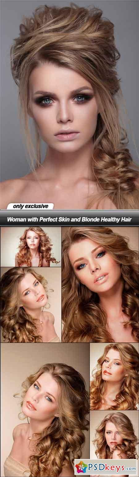 Woman with Perfect Skin and Blonde Healthy Hair - 7 UHQ JPEG