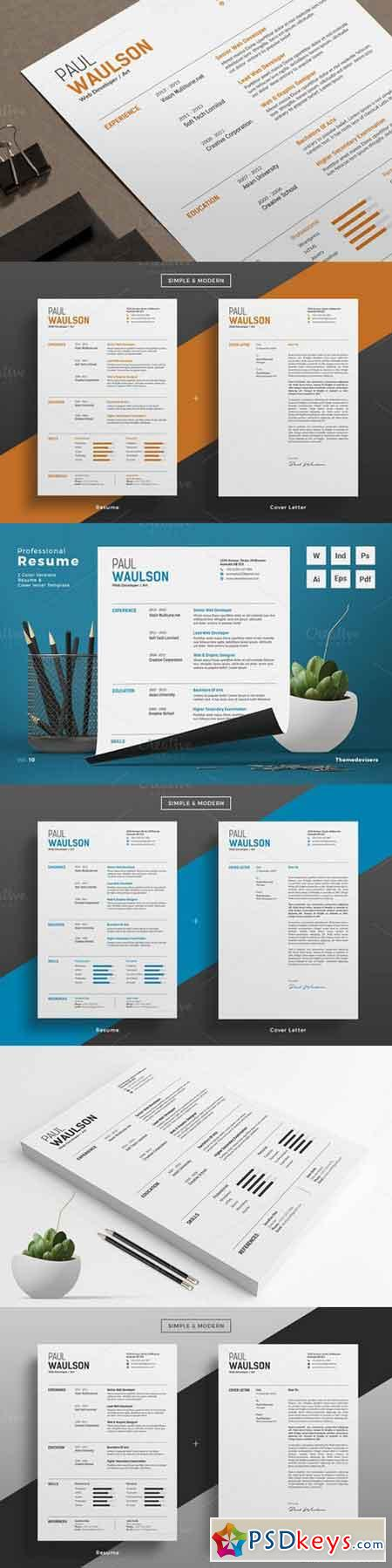 professional resume cv word 891035 free download photoshop