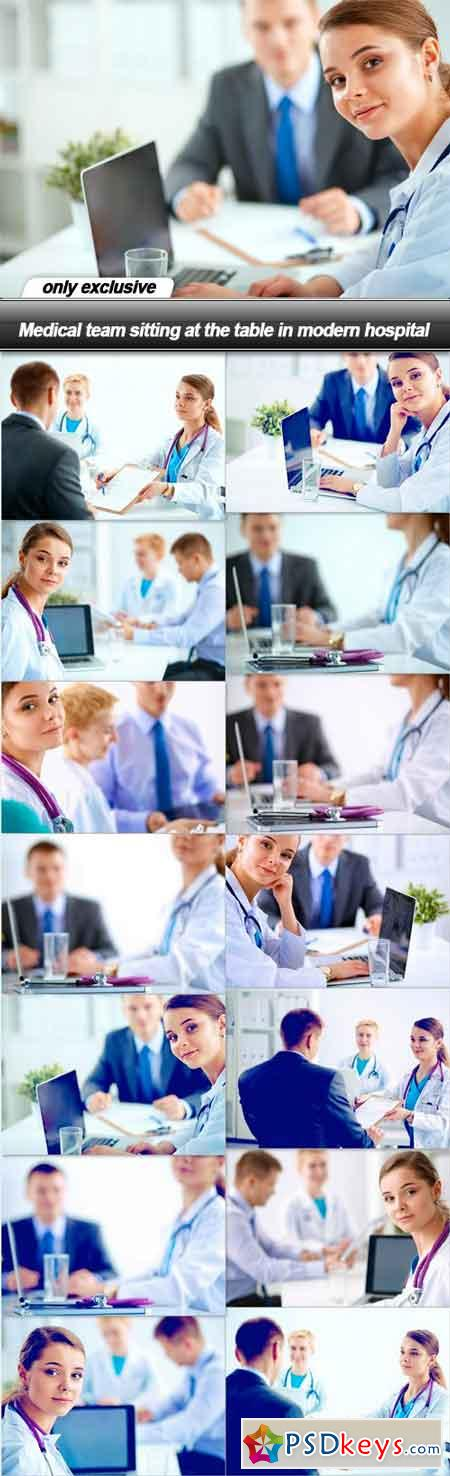 Medical team sitting at the table in modern hospital - 15 UHQ JPEG