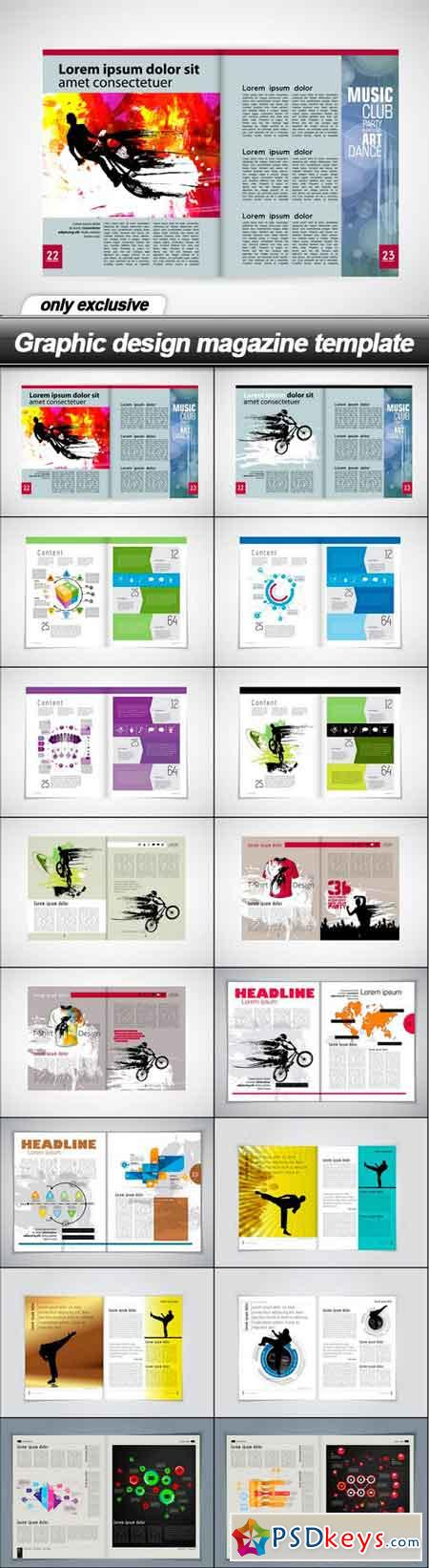 Graphic design magazine template - 16 UHQ JPEG
