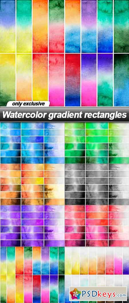 Watercolor gradient rectangles - 8 UHQ JPEG