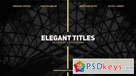 50 Elegant Titles 17075926 - After Effects Projects