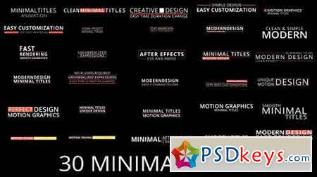 Minimal Titles 17813640 - After Effects Projects