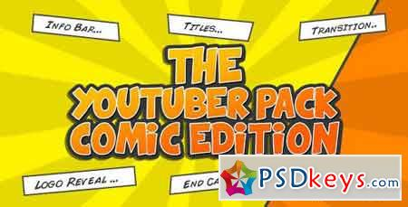 The YouTuber Pack - Comic Edition 16575265 - After Effects Projects
