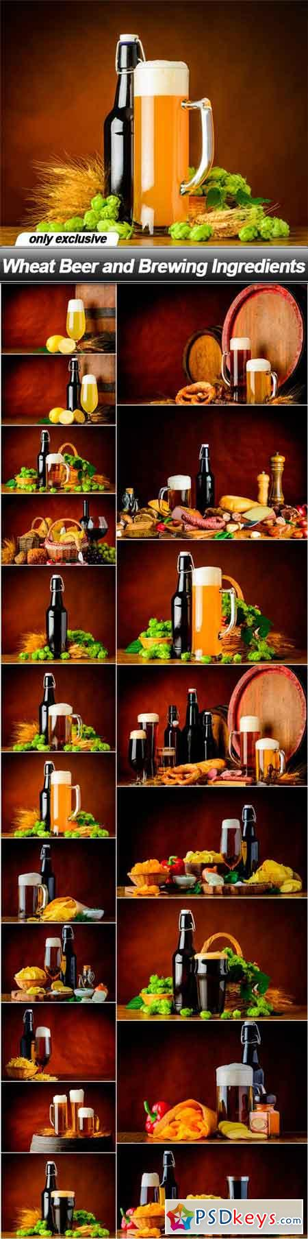 Wheat Beer and Brewing Ingredients - 20 UHQ JPEG
