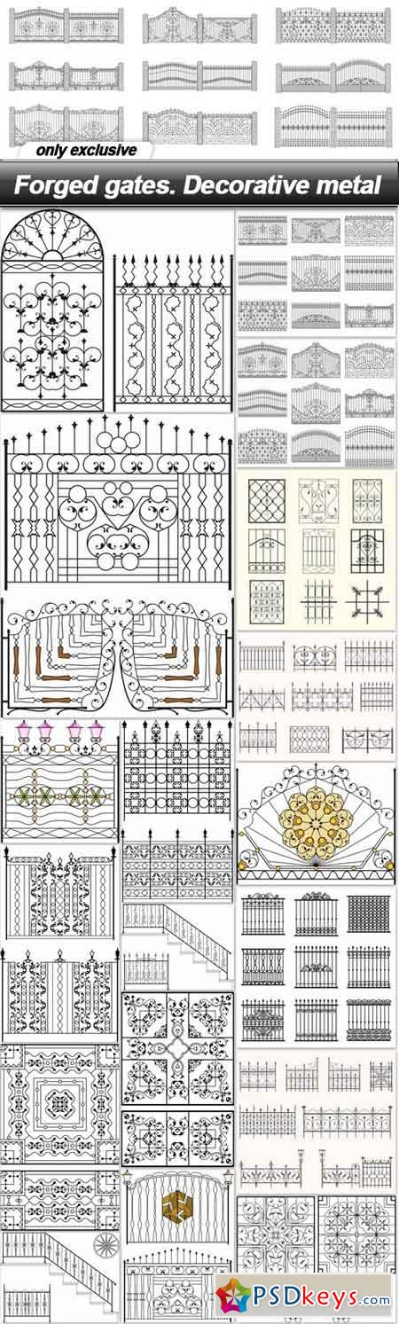 Forged gates. Decorative metal - 19 EPS