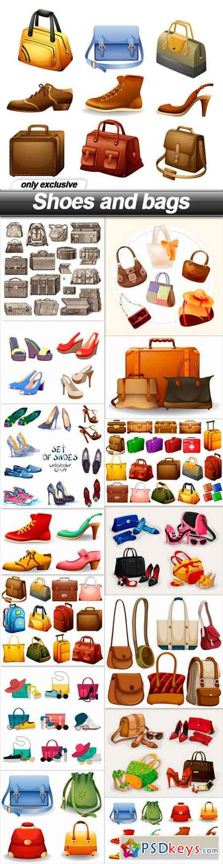 Shoes and bags - 15 EPS