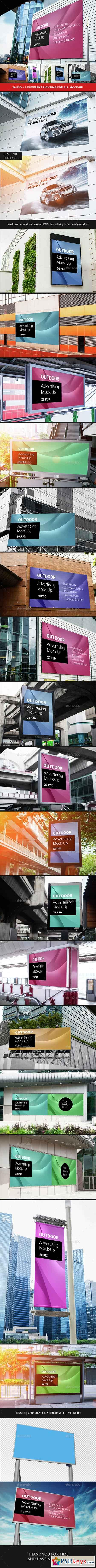 Billboard Outdoor Advertising Mock-Up 14495635
