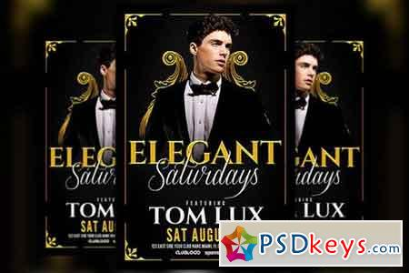 Elegant Saturday Party Flyer 828633