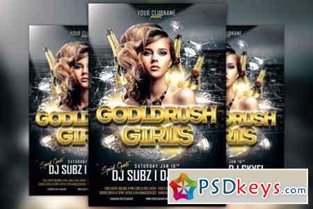 Gold Rush Girls Flyer Template 151931