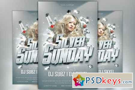 Silver Sunday Club Flyer Template 169381 » Free Download Photoshop ...