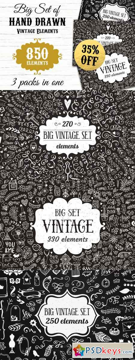 850 elements - Big Vintage Bundle 717545