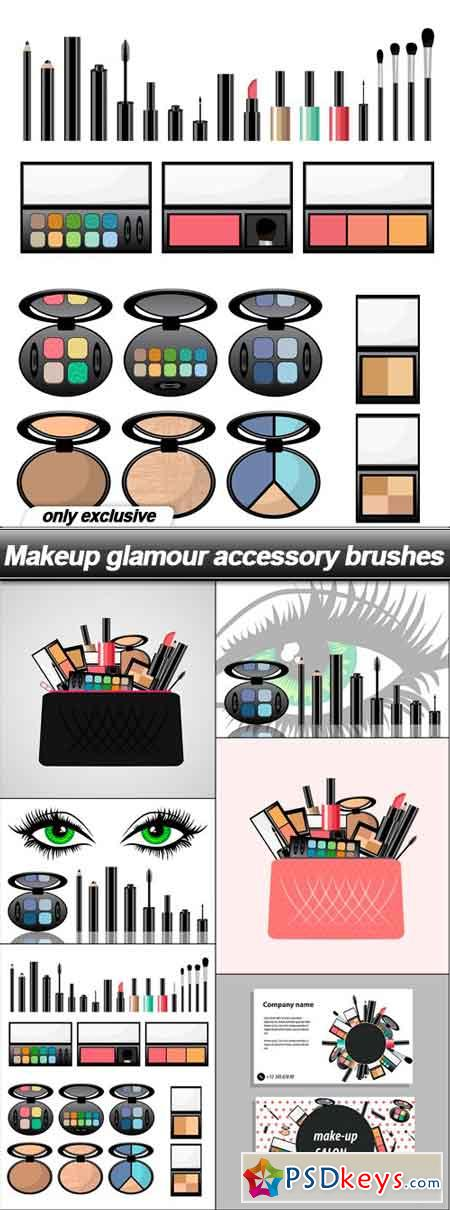 Makeup glamour accessory brushes - 6 EPS