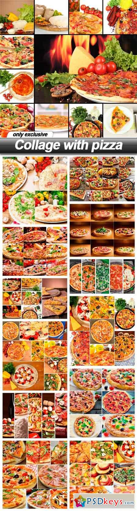 Collage with pizza - 13 UHQ JPEG