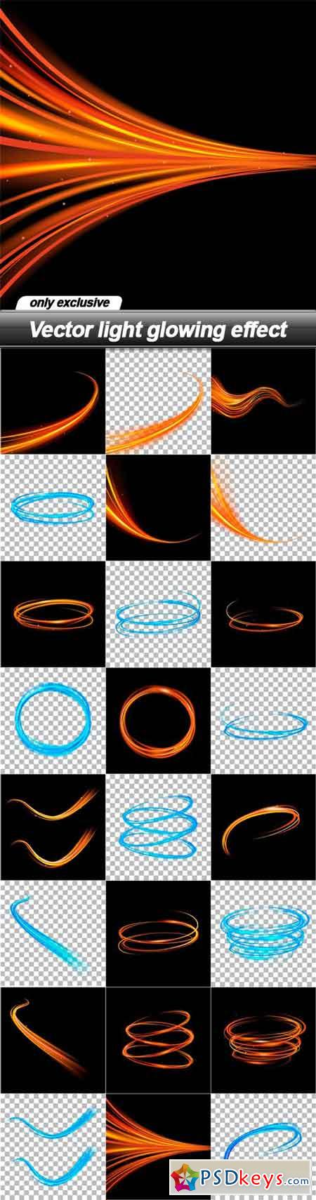 Vector light glowing effect - 24 EPS