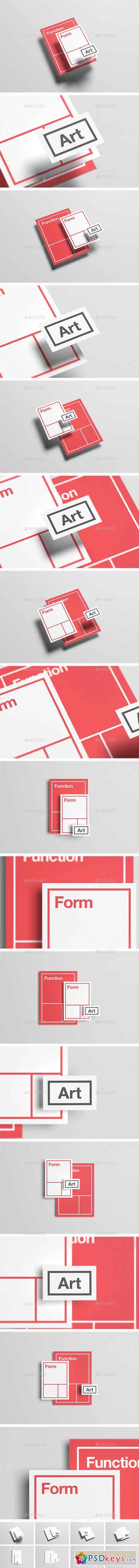 Floating Stationery Mock-Up - A4, A5, Business Card 14328170