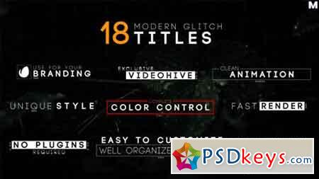 Modern Glitch Titles 17754081 - After Effects Projects » Free