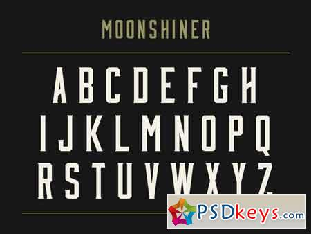 Moonshiner Typeface