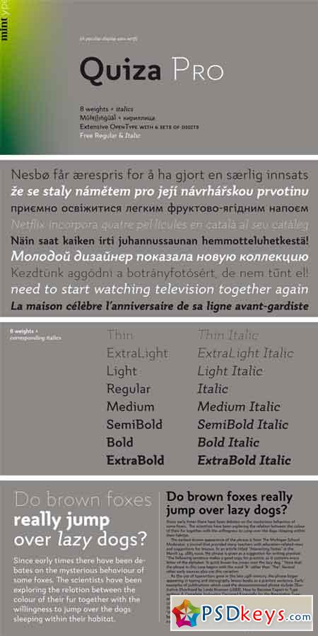 Quiza Pro Font Family