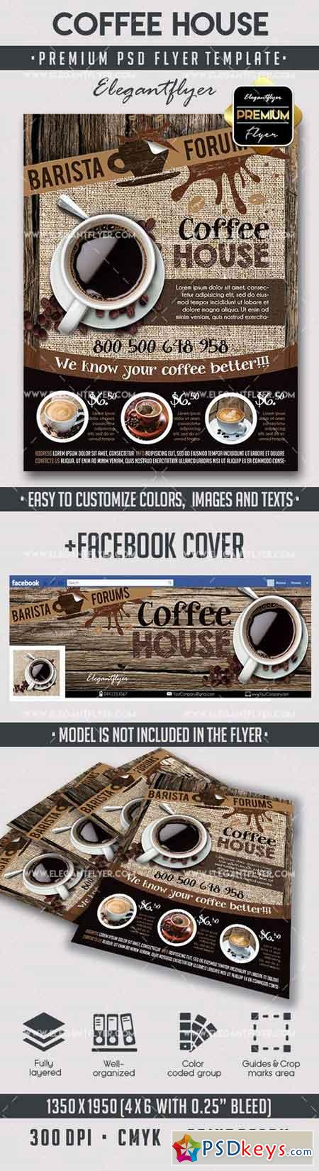 Coffee – Flyer PSD Template + Facebook Cover