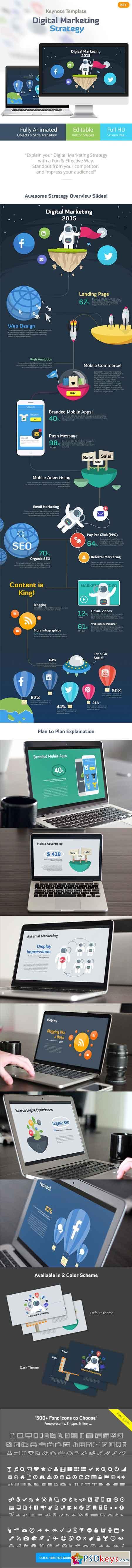 Digital Marketing Strategy - Keynote Template 10629253