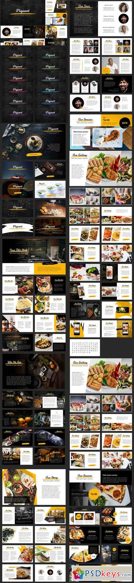 Piquant Powerpoint Template 962588