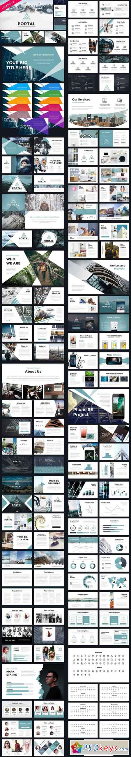 Portal Modern Powerpoint Template 845789 Free Download Photoshop