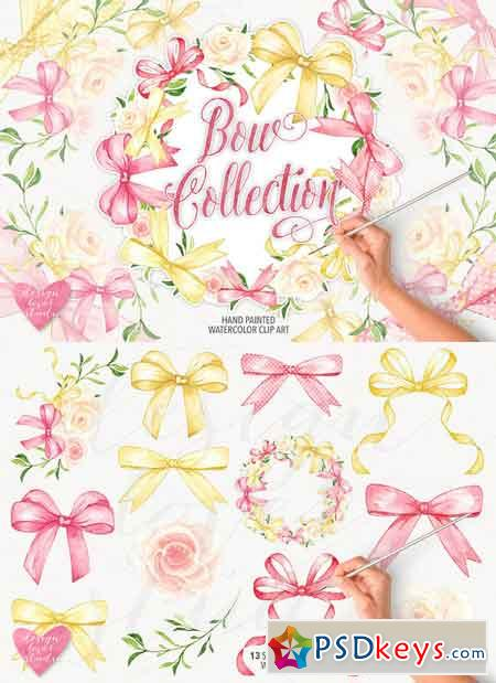 Watercolor bow collection 742721