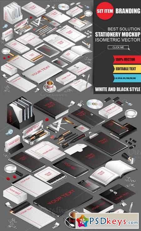Stationery Mockup Creator Isometric 969070