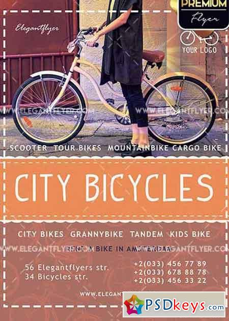 City Bicycles V1 Premium PSD Template + Facebook cover