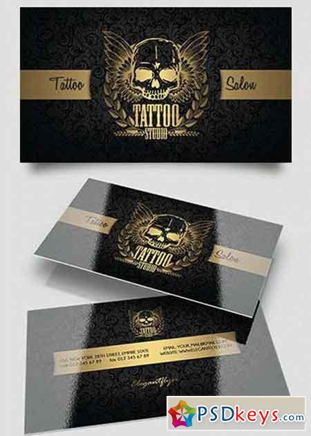 Tattoo salon v1 business card templates psd free download tattoo salon v1 business card templates psd flashek Images