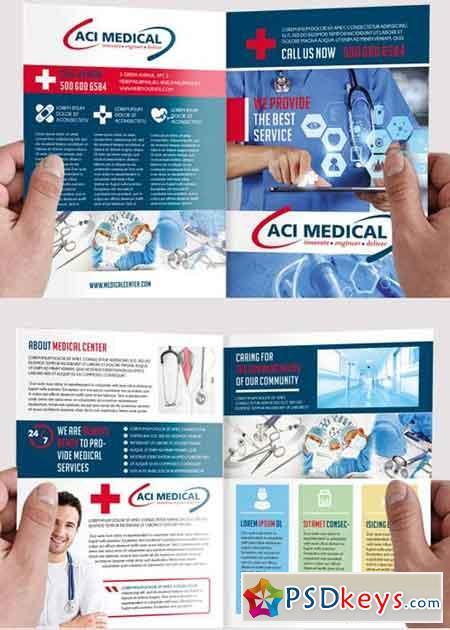 2 fold brochure template photoshop - medical v2 premium bi fold psd brochure template free