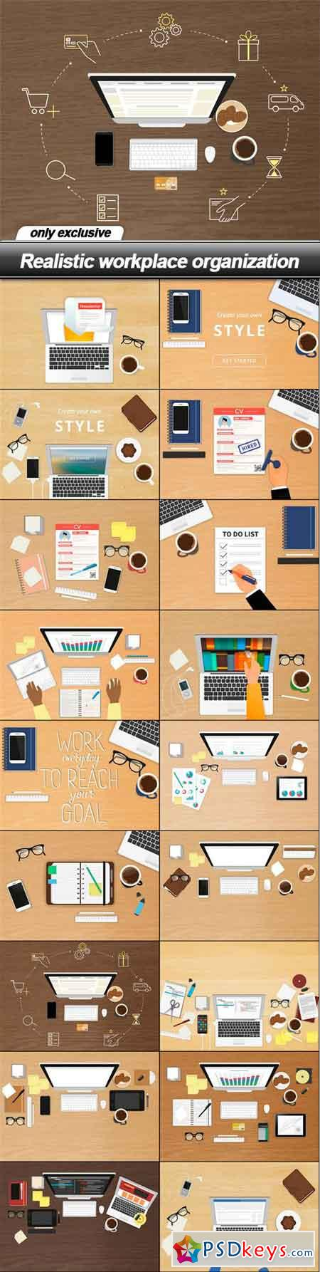 Realistic workplace organization - 18 EPS