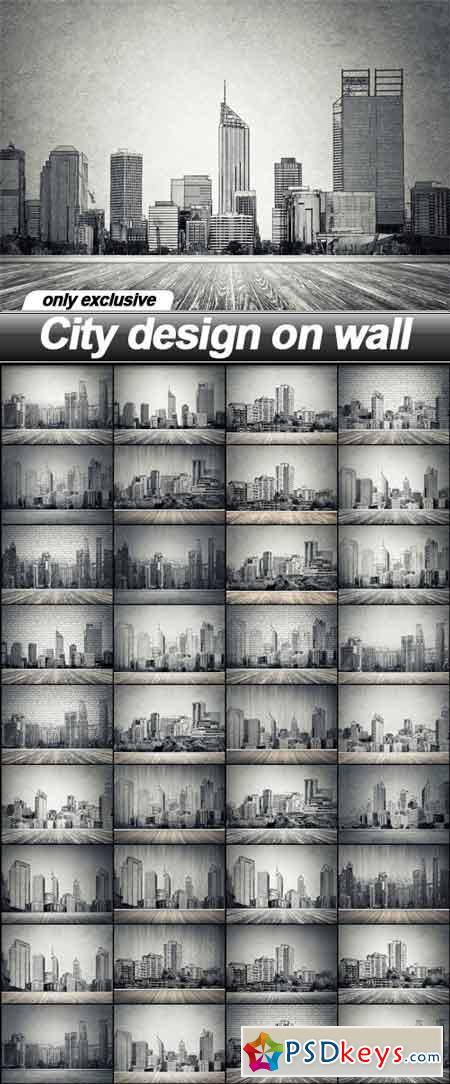 City design on wall - 35 UHQ JPEG