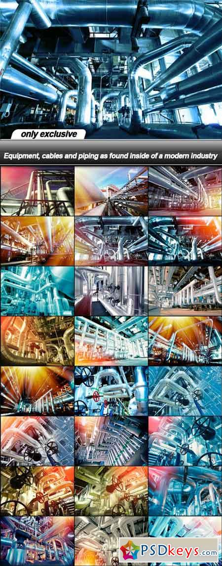 Equipment, cables and piping as found inside of a modern industry - 25 UHQ JPE